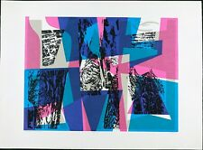 Vintage Modern Abstract Serigraph Print, Seong Moy Signed, Limited Edition 300