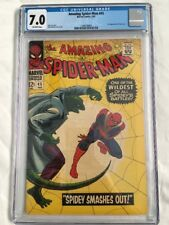 AMAZING SPIDER-MAN #45 - CGC 7.0 (3rd app Lizard) Stan Lee Romita - KEY