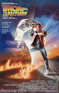 Back To The Future 1985 Canvas Wall Art Film Movie Poster Print Sci-fi M J Fox
