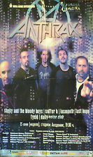 New listing Anthrax Large Color Poster Live In Sofia, Bulgaria folded, but complete original