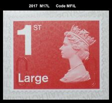 2017 - 1st Large - M17L - MFIL  Single Stamp from 4x1st booklet on SBP2 Paper