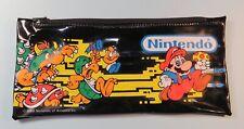 1988 Nintendo Power Pencil & Pen Case Super Mario Bowser School Pouch Nes era