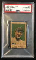 1921 W516-2-2 BABE ADAMS #13 Hand Cut Strip Card PSA Authentic