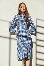 Primark Gingham Dirndl Blue White Check Womens Dress UK8 BNWT Fashion Favourite