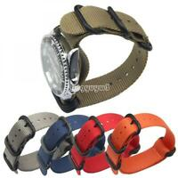 Fashion Military Army Men Watch Band Wristwatch Straps Nylon 18 20 22 24mm New