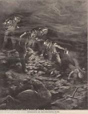 Bergbau.Rettungsarbeiten n.einer Grubenexplosion. Druck erschienen im Jahre 1909