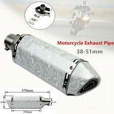 1*Motorcycle Modified Universal White Scorpion Hexagonal Exhaust Pipe Connector
