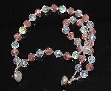 Clear Coloured Glass Costume Bracelets