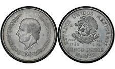 5 Pesos 1952 Mexico 🇲🇽 Silver Coin / Miguel Hidalgo y Costilla's # 467