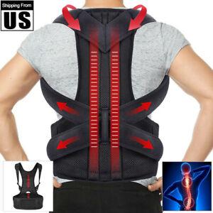 Magnetic Back Posture Corrector Shoulder Support Brace Belt Therapy Men Women