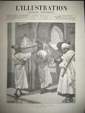 2329 MAROC EMPEREUR AMBASSADEUR SULTAN PRISON DE NANTERRE L'ILLUSTRATION 1887