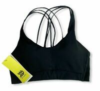Women's Medium Support Strappy Back Bra - All in Motion - Black - S - S397