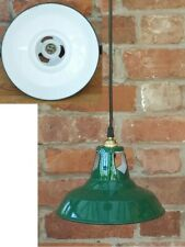 "Nice Vintage 9"" Coolicon Style 1950's Enamel Pendant Kitchen Lamp/Light REWIRED"