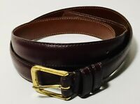 COACH Burgundy Belt Leather USA Burnished Cowhide Brass Buckle Size 38