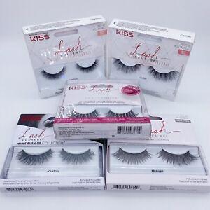 5 x Pairs Bundle Kiss Lash Couture False Eyelashes - Fake Strip Lashes RRP £50