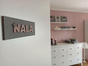 Namensschild Türschild individuell Holz Kinderzimmer Babyzimmer Namen