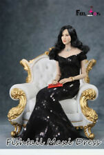 Feeltoys FT008 1/6 Female Black Fishtail Evening Dress Lady Dress Clothing