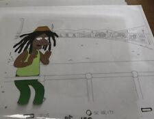 The Simpsons cel - 7F05 Dancin Homer Original Animation Rastafarian