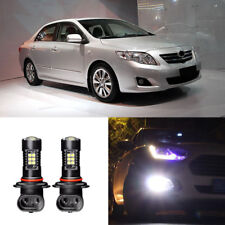Canbus H3 3030 21SMD LED DRL Daytime Running Fog Lights Bulbs For Toyota Corolla