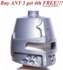 ☀️NEW Lego Boy/Girl Minifig Hat Kingdoms Flat Silver HELMET Castle Knight