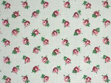 Laura Ashley LA1029 DITSY Floral 70 RASPBERRY Home Decor Cotton Drapery Fabric