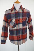 RARE Vintage Gap Flannel Shirt Size M Medium Heavy Weight Plaid Blue
