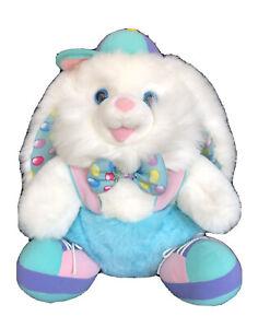 "Vintage Dan Dee HopAlong Hopster Easter Bunny Plush Rainbow Color 16"" Hoppy Hat"