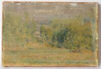Tableau Peinture Ancienne XIXème Huile, Paysage, Arbre
