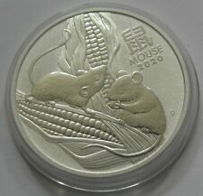 2020 1oz .9999 Fine Silver 1 Dollar Australia Year of the Mouse Coin- MINT