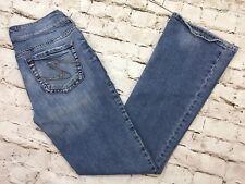 Silver Suki Boot Cut Denim Jeans Womens Sz 27 x 32 (27 x 30.5) Medium Blue Wash
