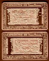 ★★★ JOLI MEDAILLE PLAQUEE BRONZE ● BILLET DE 5000 FRANCS FLAMENG ★★★