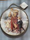 "Gallery Graphics Victorian Chain Chimney Flue Cover Santa Print 9-1/4"" 1992"