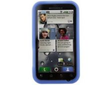 Silicone Phone Case Skin Dark Blue For Motorola DEFY