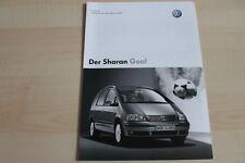 97494) VW Sharan Goal - Preise & Extras - Prospekt 12/2003