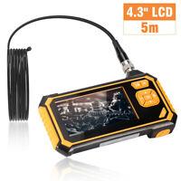 Digital LCD Endoscope Inspection Camera 1080P HD Borescope Video Recorder AV USB