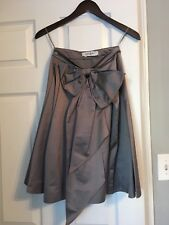 Yves Saint Laurent Grey Evening Bow Skirt - Made in Italy