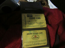 12+ vintage credit charge cards from 1950's and 60's, wallet included