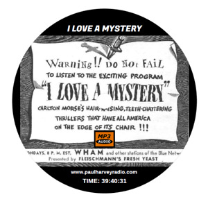 I LOVE A MYSTERY (174 SHOWS) OLD TIME RADIO MP3 CD