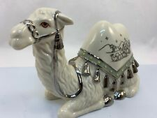 Trusted Camel Silver Blessing Nativity Scene Fig Stunning Hawthorne Village Htf