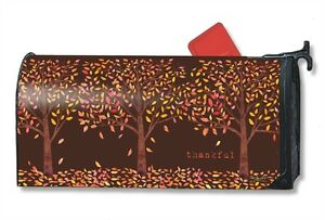 thankful Fall Leaves Mail Box Wrap magnetic mailwrap mailbox cover