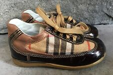 Toddler Boys Vera Pelle Shoes Size 24 US 7.5-8 Brown Black