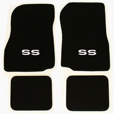 NEW! 1968-1972 CHEVELLE Floor Mats Black Carpet Embroidered Silver SS Logo Set 4