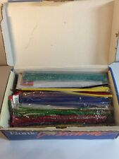 Vintage Mixed Lot Of Chenille Crafting Pipe Cleaners. Many Colors