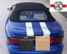 Camaro & Firebird Convertible Top With Plastic Window & Video, Twill Vinyl 94-02