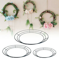1pc 10''-16'' Round Metal Wire Floral Wreath Form Frame DIY Craft Xmas Decor