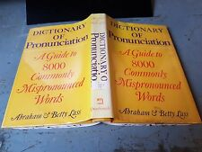 US Army Bibliotheksbestand: Dictionary of Pronunciation 0812906144 Harold Lass