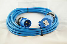 Caravan Camping Hook Up powerCable in 1.5mm² cable 25MTR in Blue See our shop