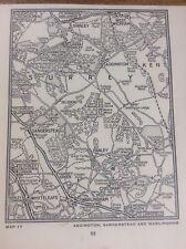 Aldington Sanderstead Warlingham c1920 Map London South of the Thames 5x4�