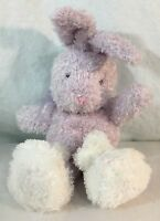 "Hallmark Bunny Rabbit Slippers Plush Soft Toy Purple Lavender White 12"" Stuffed"