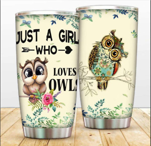 Just A Girl Who Loves Owls Tumbler Cups